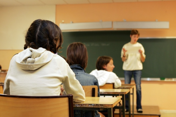 en classe